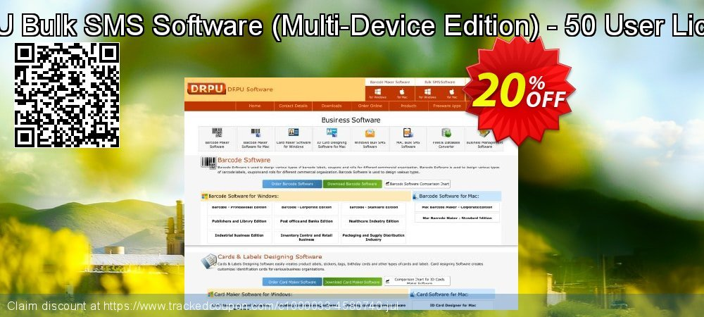 DRPU Bulk SMS Software - Multi-Device Edition - 50 User License coupon on April Fool's Day deals