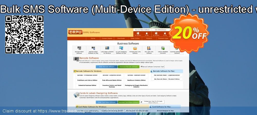 DRPU Bulk SMS Software - Multi-Device Edition - unrestricted version coupon on April Fool's Day offering sales