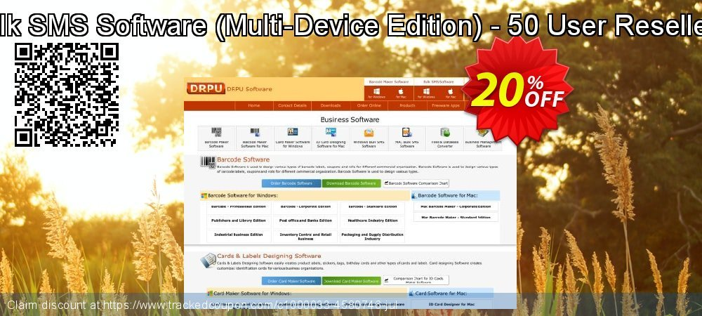 DRPU Bulk SMS Software - Multi-Device Edition - 50 User Reseller License coupon on Easter discounts
