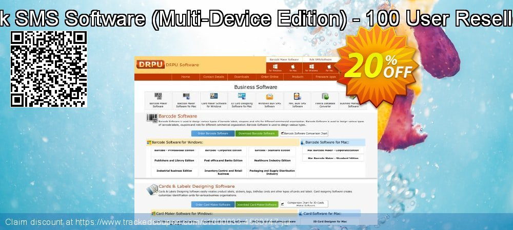 DRPU Bulk SMS Software - Multi-Device Edition - 100 User Reseller License coupon on Spring promotions