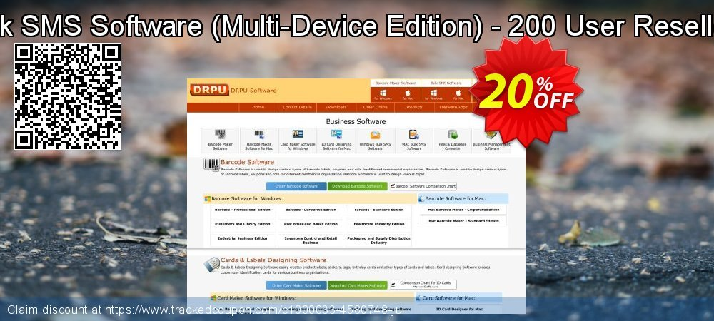DRPU Bulk SMS Software - Multi-Device Edition - 200 User Reseller License coupon on April Fool's Day sales
