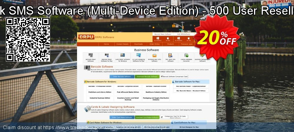 DRPU Bulk SMS Software - Multi-Device Edition - 500 User Reseller License coupon on Easter offer