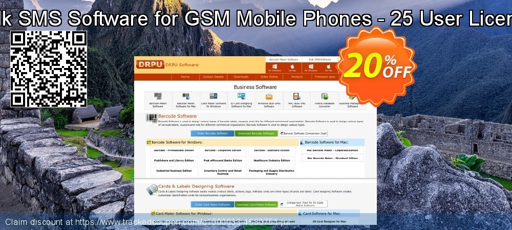 Bulk SMS Software for GSM Mobile Phones - 25 User License coupon on Spring discount