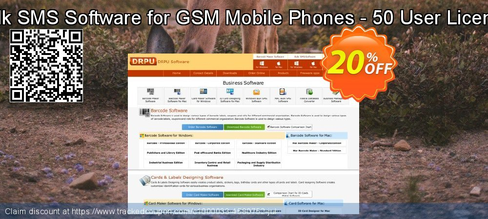 Bulk SMS Software for GSM Mobile Phones - 50 User License coupon on April Fool's Day offering discount