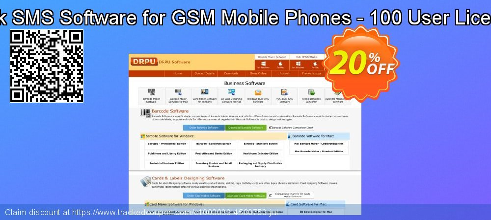 Bulk SMS Software for GSM Mobile Phones - 100 User License coupon on Easter Sunday offering sales