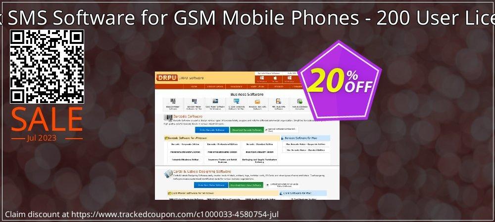 Bulk SMS Software for GSM Mobile Phones - 200 User License coupon on Easter super sale