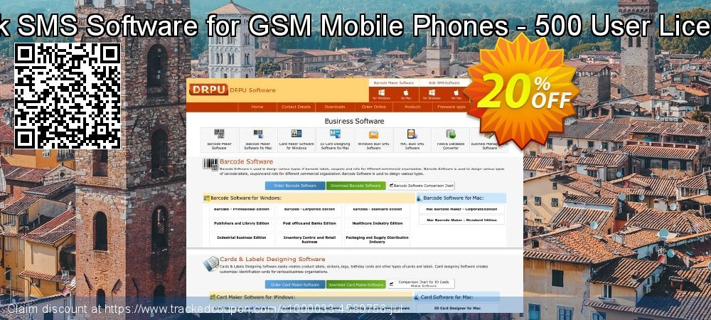 Bulk SMS Software for GSM Mobile Phones - 500 User License coupon on April Fool's Day promotions