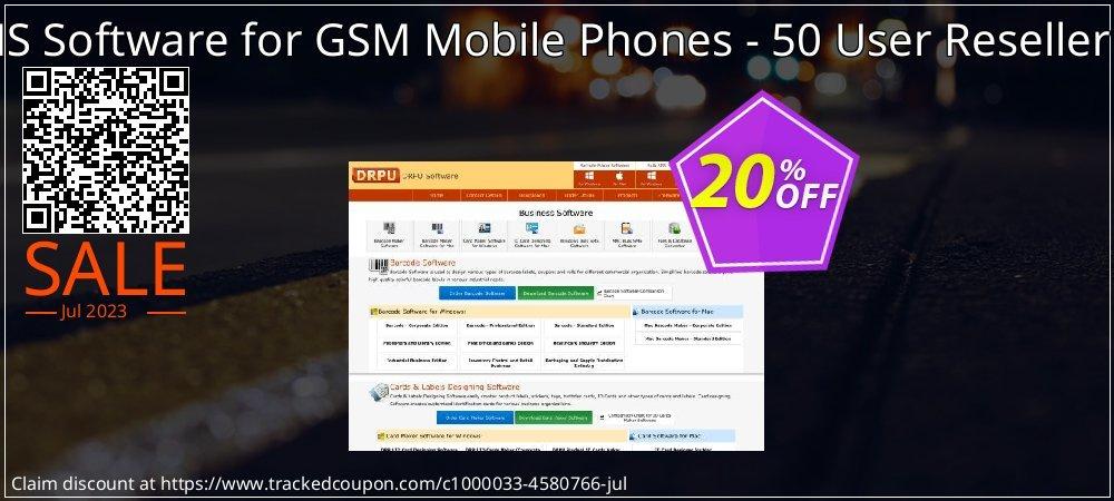 Bulk SMS Software for GSM Mobile Phones - 50 User Reseller License coupon on Easter sales