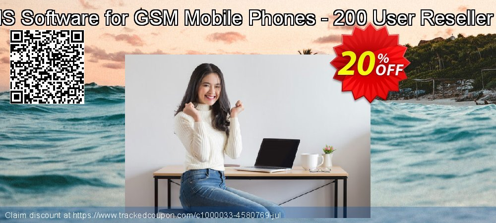 Bulk SMS Software for GSM Mobile Phones - 200 User Reseller License coupon on Easter Sunday discount