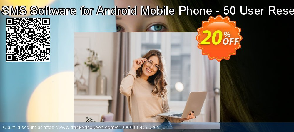 DRPU Bulk SMS Software for Android Mobile Phone - 50 User Reseller License coupon on Easter Sunday offering discount