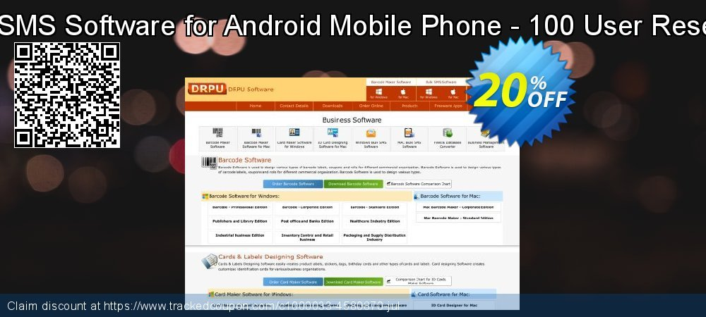 DRPU Bulk SMS Software for Android Mobile Phone - 100 User Reseller License coupon on Easter offering sales