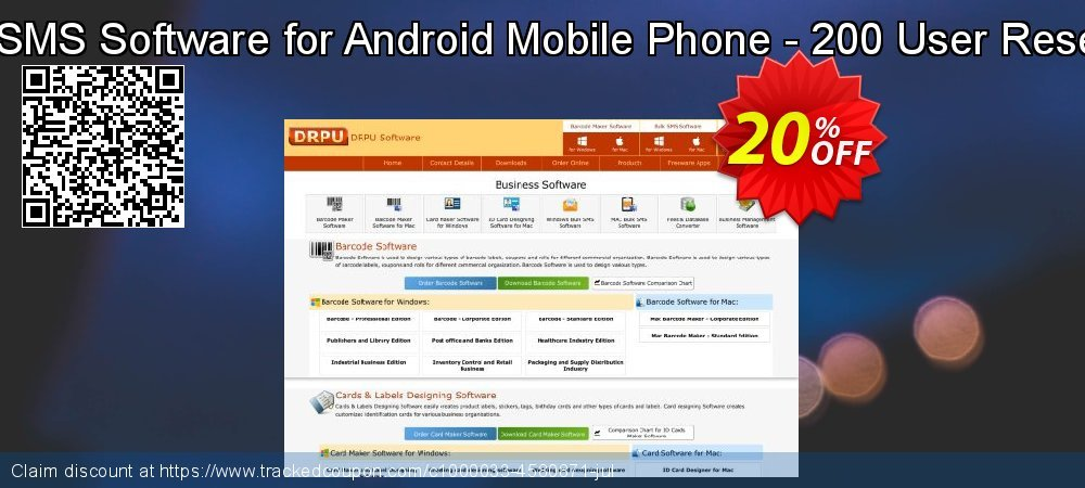 DRPU Bulk SMS Software for Android Mobile Phone - 200 User Reseller License coupon on Spring super sale