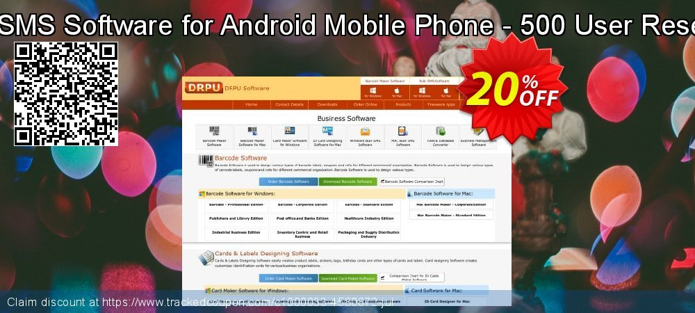 DRPU Bulk SMS Software for Android Mobile Phone - 500 User Reseller License coupon on April Fool's Day discounts