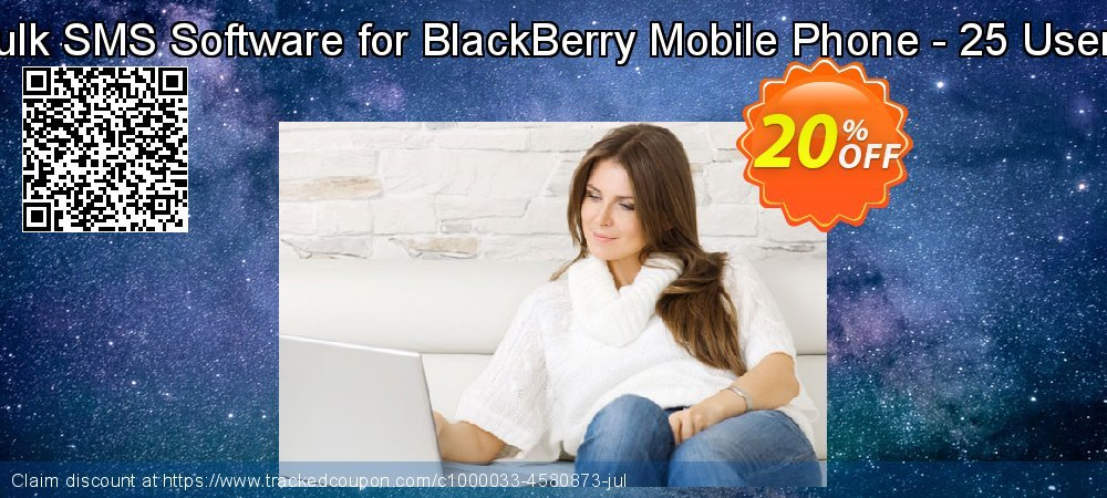DRPU Bulk SMS Software for BlackBerry Mobile Phone - 25 User License coupon on Easter Sunday promotions