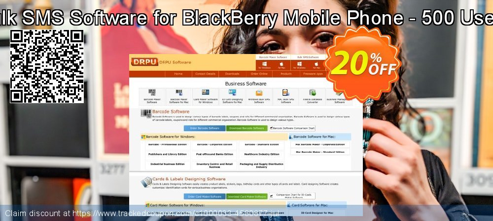 DRPU Bulk SMS Software for BlackBerry Mobile Phone - 500 User License coupon on Easter Sunday discount