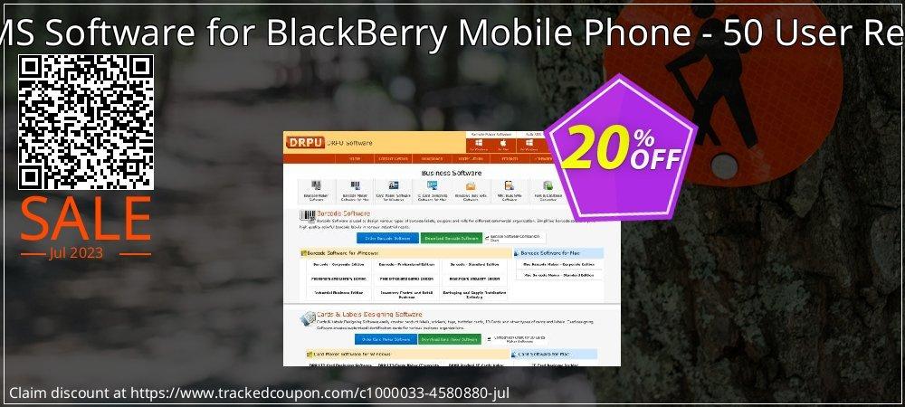 DRPU Bulk SMS Software for BlackBerry Mobile Phone - 50 User Reseller License coupon on April Fool's Day super sale