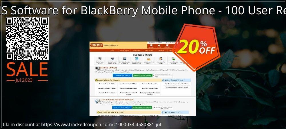 DRPU Bulk SMS Software for BlackBerry Mobile Phone - 100 User Reseller License coupon on Easter Sunday discounts
