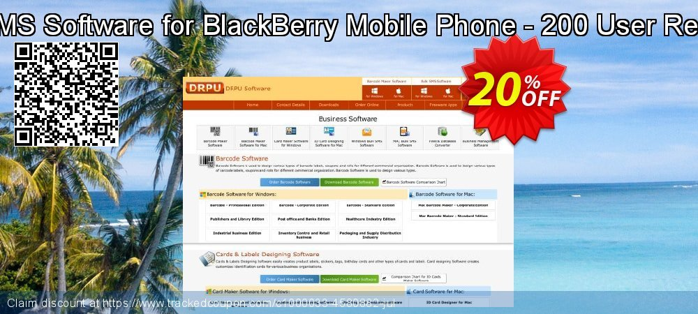 DRPU Bulk SMS Software for BlackBerry Mobile Phone - 200 User Reseller License coupon on Easter promotions