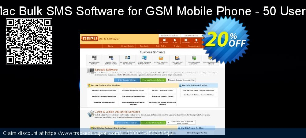 DRPU Mac Bulk SMS Software for GSM Mobile Phone - 50 User License coupon on Easter Sunday offer
