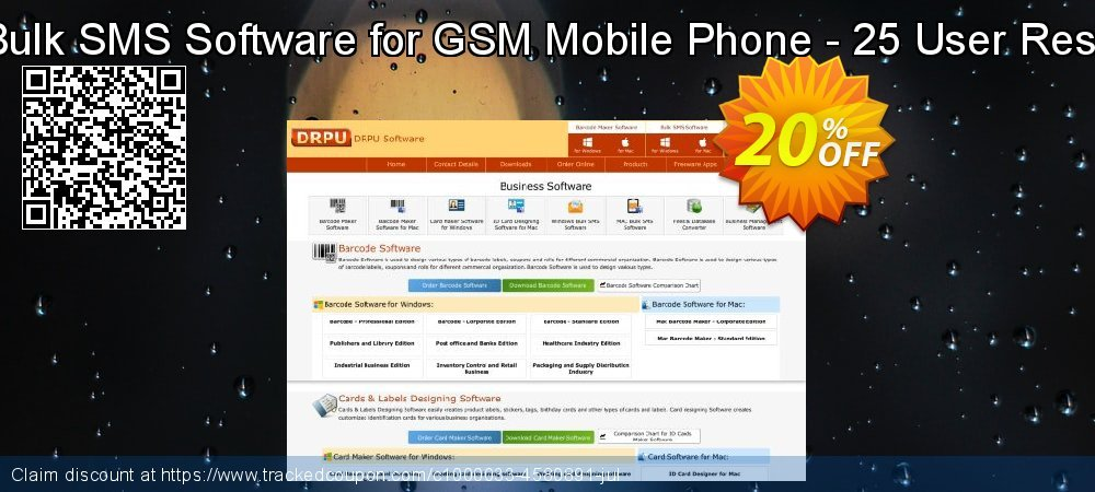DRPU Mac Bulk SMS Software for GSM Mobile Phone - 25 User Reseller License coupon on Spring promotions