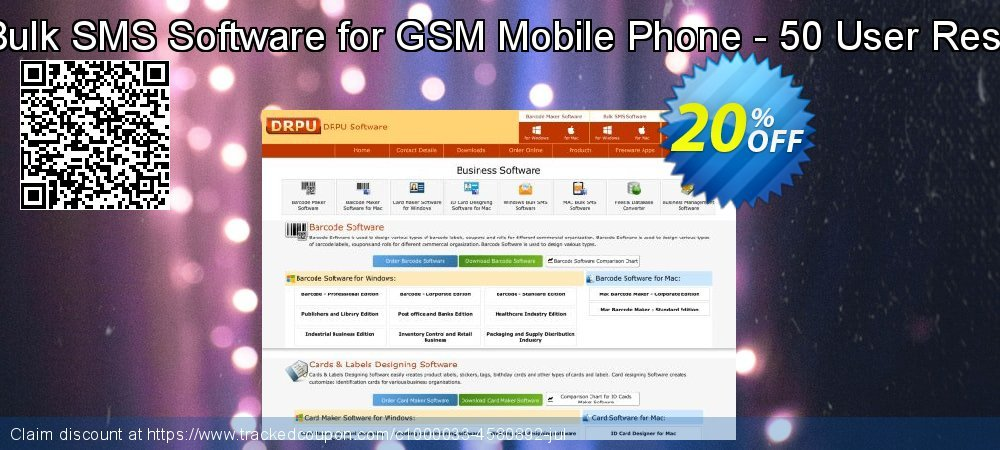 DRPU Mac Bulk SMS Software for GSM Mobile Phone - 50 User Reseller License coupon on April Fool's Day sales