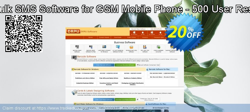 DRPU Mac Bulk SMS Software for GSM Mobile Phone - 500 User Reseller License coupon on Spring discount