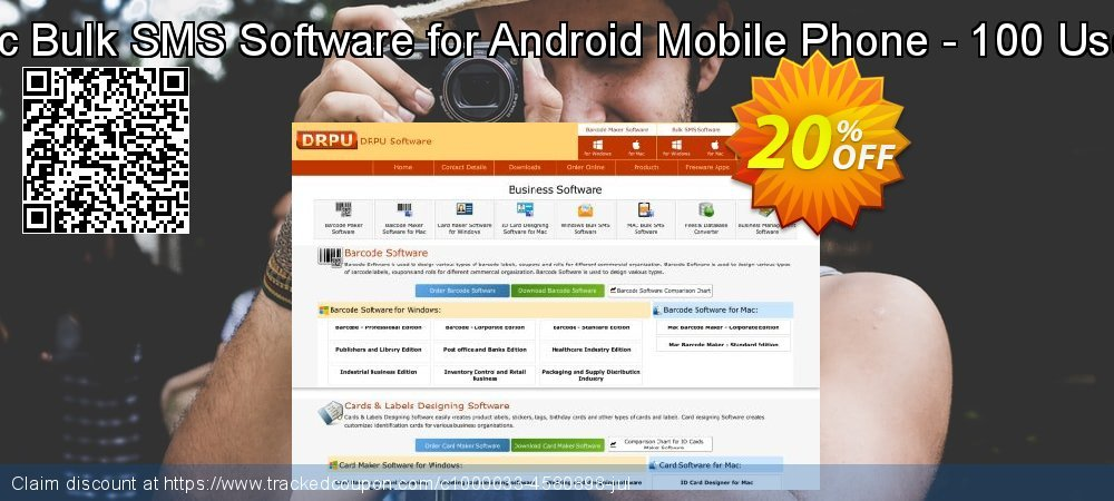 DRPU Mac Bulk SMS Software for Android Mobile Phone - 100 User License coupon on Easter super sale