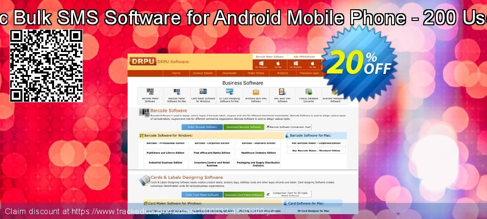 DRPU Mac Bulk SMS Software for Android Mobile Phone - 200 User License coupon on Spring discounts