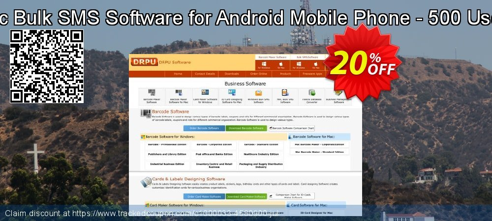 DRPU Mac Bulk SMS Software for Android Mobile Phone - 500 User License coupon on April Fool's Day promotions