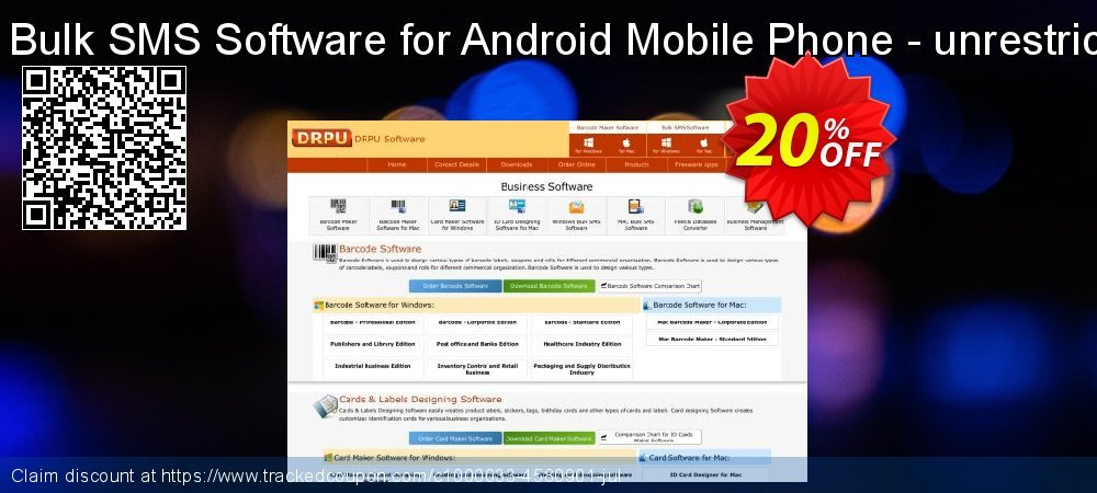 DRPU Mac Bulk SMS Software for Android Mobile Phone - unrestricted version coupon on Easter Sunday sales
