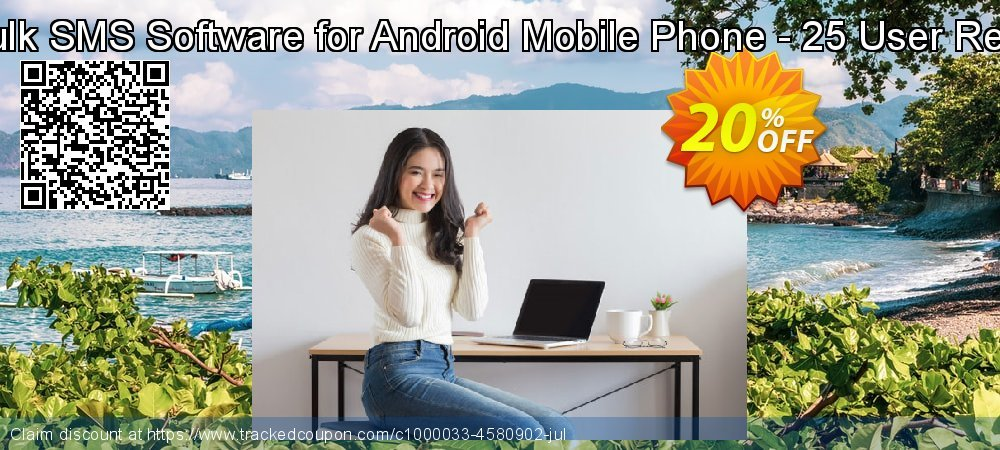DRPU Mac Bulk SMS Software for Android Mobile Phone - 25 User Reseller License coupon on Easter deals