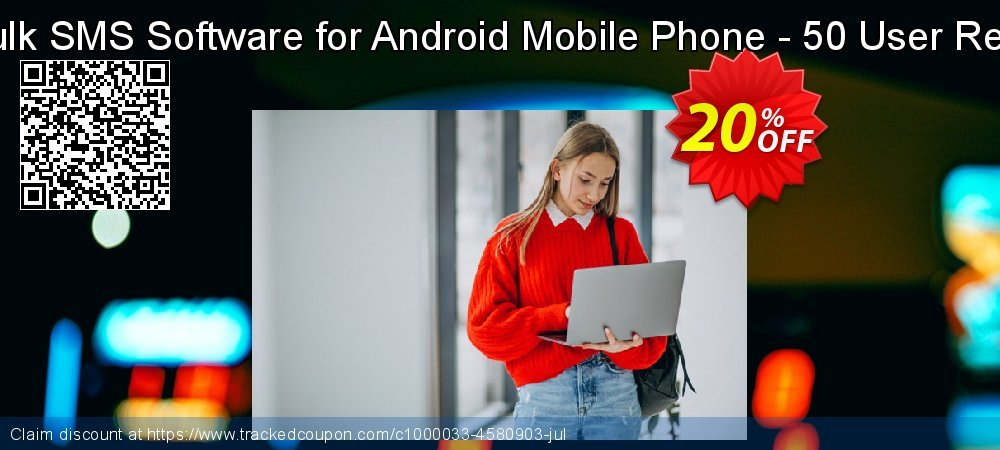DRPU Mac Bulk SMS Software for Android Mobile Phone - 50 User Reseller License coupon on Spring offer