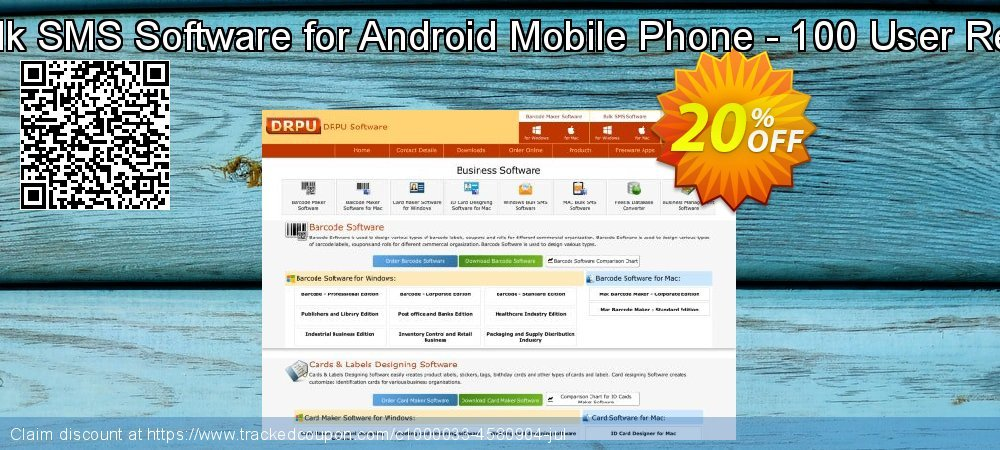 DRPU Mac Bulk SMS Software for Android Mobile Phone - 100 User Reseller License coupon on April Fool's Day discount