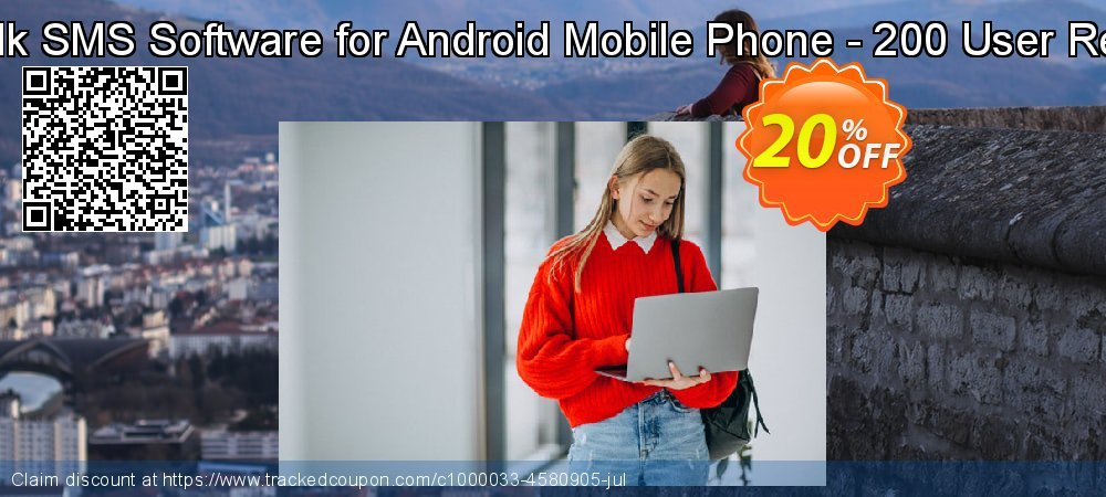 DRPU Mac Bulk SMS Software for Android Mobile Phone - 200 User Reseller License coupon on Easter Sunday offering discount