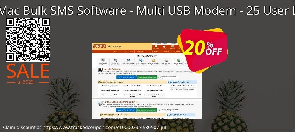 DRPU Mac Bulk SMS Software - Multi USB Modem - 25 User License coupon on Spring super sale
