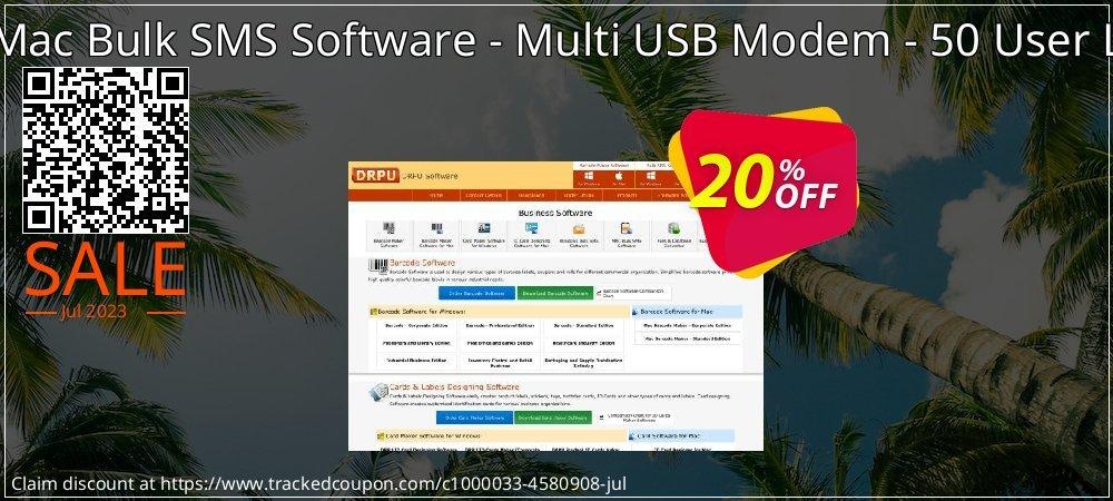 DRPU Mac Bulk SMS Software - Multi USB Modem - 50 User License coupon on April Fool's Day discounts