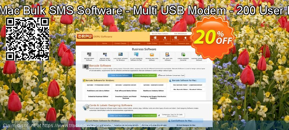 DRPU Mac Bulk SMS Software - Multi USB Modem - 200 User License coupon on Easter sales
