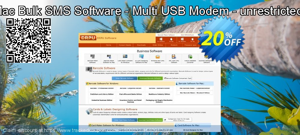 DRPU Mac Bulk SMS Software - Multi USB Modem - unrestricted version coupon on April Fool's Day offer