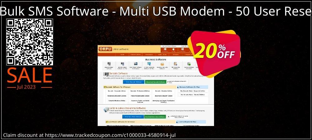 DRPU Mac Bulk SMS Software - Multi USB Modem - 50 User Reseller License coupon on Easter offering discount