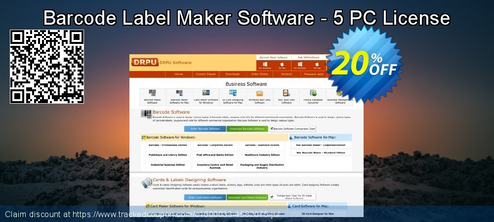 Barcode Label Maker Software - 5 PC License coupon on Spring offering discount