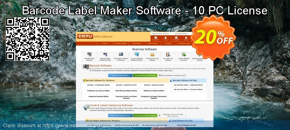 Barcode Label Maker Software - 10 PC License coupon on April Fool's Day offering sales