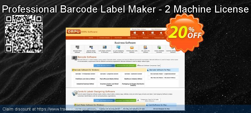Professional Barcode Label Maker - 2 Machine License coupon on Easter Sunday super sale