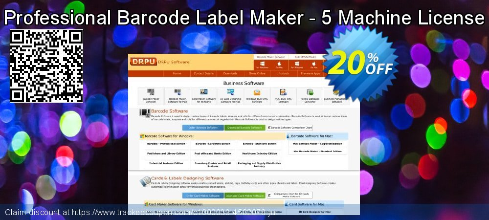 Professional Barcode Label Maker - 5 Machine License coupon on Easter discounts