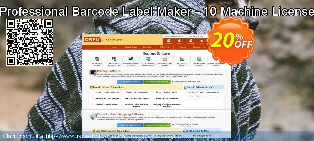 Professional Barcode Label Maker - 10 Machine License coupon on Spring promotions