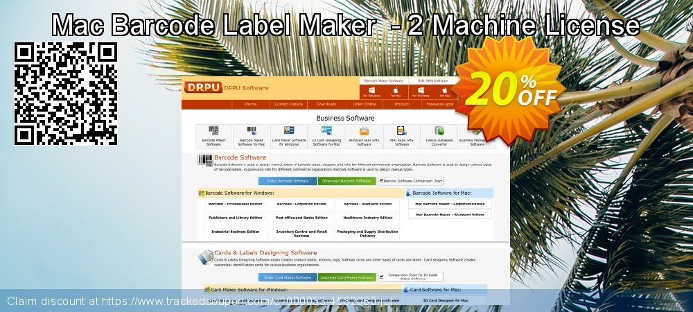 Mac Barcode Label Maker  - 2 Machine License coupon on April Fool's Day sales