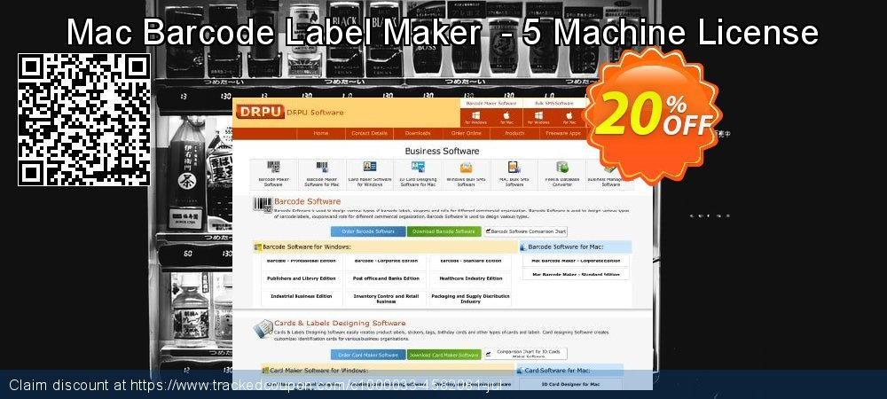 Mac Barcode Label Maker  - 5 Machine License coupon on Easter Sunday deals