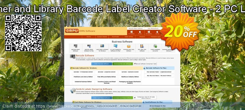 Publisher and Library Barcode Label Creator Software - 2 PC License coupon on Spring discount