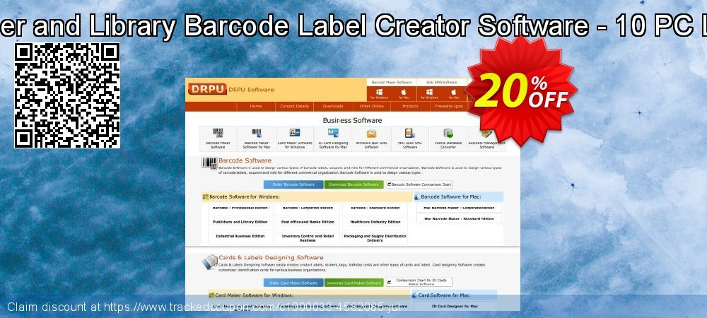 Publisher and Library Barcode Label Creator Software - 10 PC License coupon on Easter Sunday offering sales
