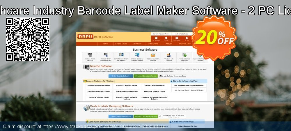 Healthcare Industry Barcode Label Maker Software - 2 PC License coupon on April Fool's Day promotions