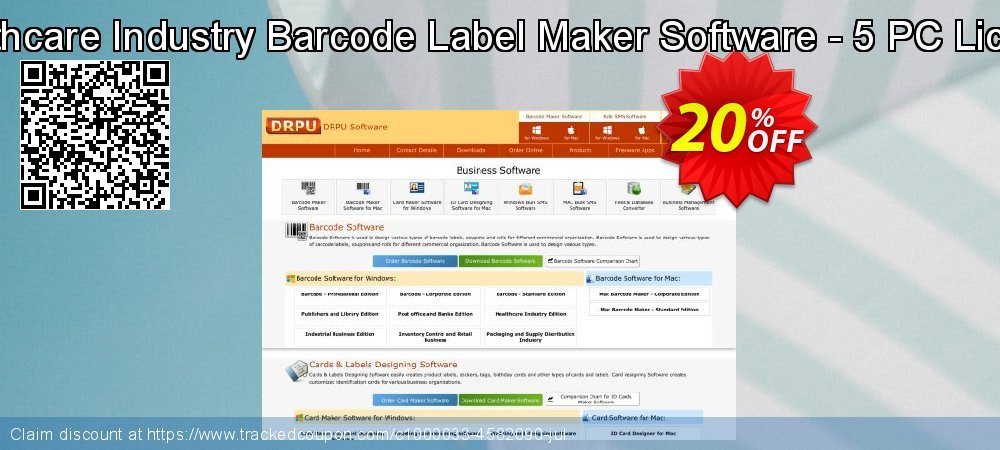 Healthcare Industry Barcode Label Maker Software - 5 PC License coupon on Easter deals